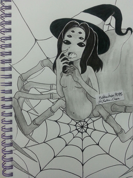 Inktober Day 25 - Insect Witch by nakuchan9095