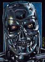 T-800 -Terminator Sketch Card by J-Redd