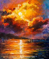 Magnificent Clouds by Leonid Afremov by Leonidafremov