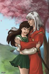 inuyasha and kagome by regiph