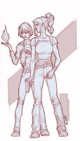 Mage and Knight by NelsonBlakeII