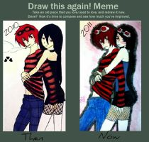 Before and After Meme:Matt and Meli by RiverGurl