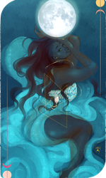 Commission:Tarot Card ThE Moon by AlexielApril