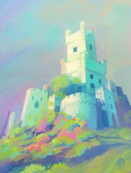 Castle light and mood study by Nimphradora