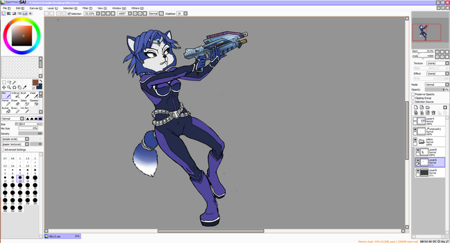 W.I.P Krystal Assault by icha-icha
