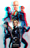 X-Men Apocalypse : The X-Men in 3D Anaglyph by xmancyclops