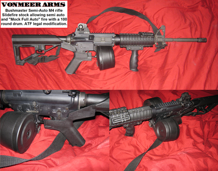 5.56 AR15 with Bumpfire stock (Slidefire) SHTF gun by vonmeer
