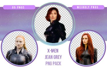 X-Men Jean Grey PNG Pack by Weirdly-PNGS