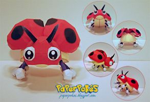 Pokemon Papercraft - Ledyba