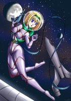 Retro Future: Space Girl by carrot25