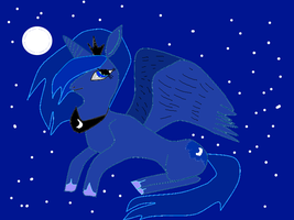 Princess Luna fan art by raja1057