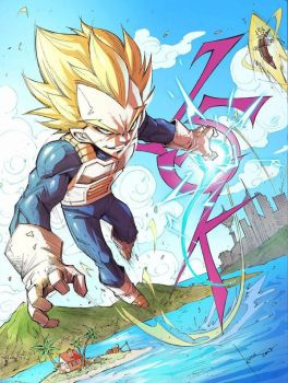 Super Vegeta by COLOR-REAPER