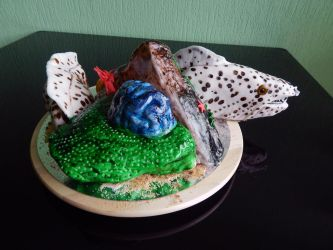 Moray Eel Coral Cake by Soundgoblin