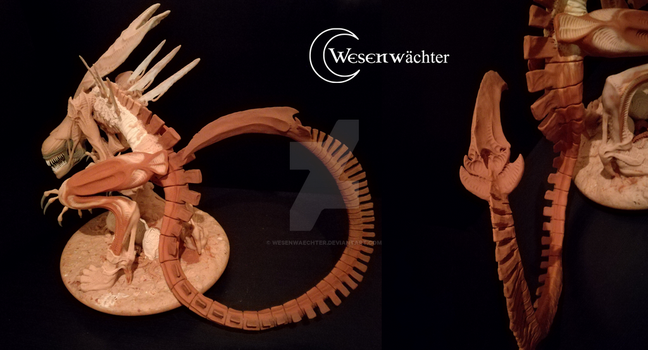 Alienqueen - finished sculpture tail by Wesenwaechter