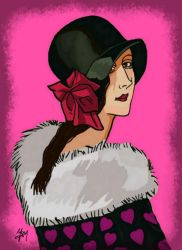 ME: Retro portrait(on 1920s)- Birthday gift by Ysydora