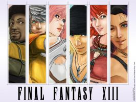 FF XIII Fanart Wallpaper by twovader
