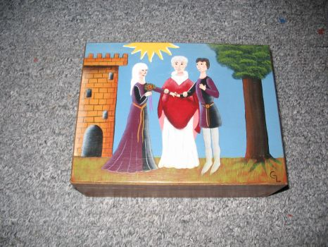 Medieval inspired Tea box by Gwenyver-Costumes