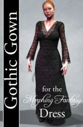 Gothic Gown Texture for Morphing Fantasy Dress by mylochka