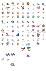 Pokemon XY Sprites (OLD, WILL BE UPDATED...MAYBE) by zerudez