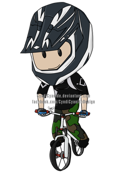 Simon - Downhill biking by cyndicyanide