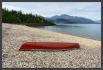Red Canoe by kootenayphotos