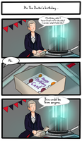 Birthday cake (Doctor Who/The Thick of It) by ice-cream-skies