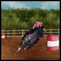 Spanky - Western Beasts Barrels by painted-cowgirl