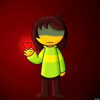 Tall Chara with no eyes by EmilyTheMeowth