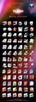 FLASH Black Edition IconPack by GucalovPavel