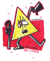INKTOBER 2016 [DAY 28 - BILL CIPHER ] by Rumay-Chian