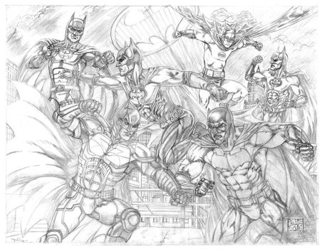 Batman Battle Pencil by AntonioMastria