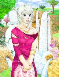 Orieal and thewaterfalls,color by genaminna