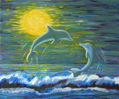 Blue Dolphins by art1st1cDes1gn
