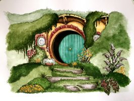 Hobbit Home by AmandaM55