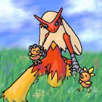 Blaziken and Torchic