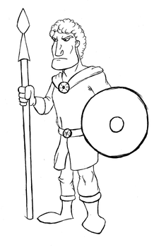 Daily Doodle - Barbarian by RAWilco