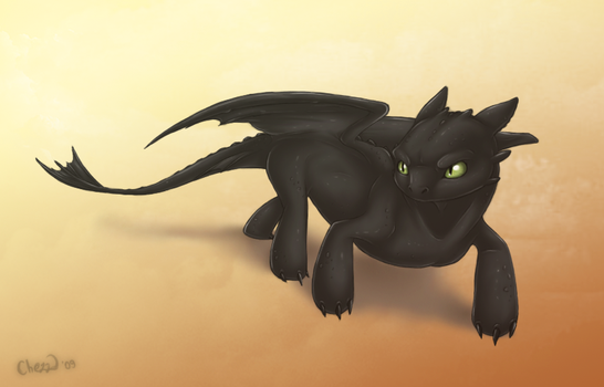 Toothless by chezzepticon