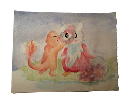 Request: Delibird and Charmander