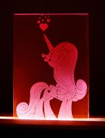 Princess Cadance Acrylic LED Picture by steeph-k