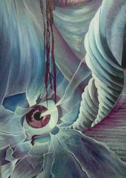 surreal painting close up by DREAMandDIFFER