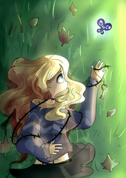 A dead rose in the garden by Stariaat