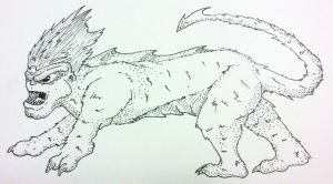 Manticore by jamsketchbook