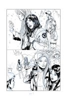 unused comic page fot x-23 by RodneyCJacobsen