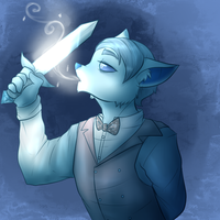 Art Trade with 1558- Antoine the sword swallower by Ally-Ooops