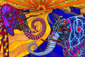 The Elephants by PhilLewis