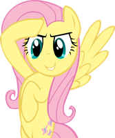 Fluttershy at attention by LcPsycho