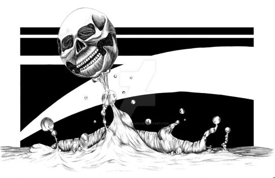 WateryDeath BlackandWhite by MereMagicDesigns