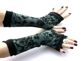 Winter Garden Arm Warmers,Fingerless Gloves - Very by WearMeUp
