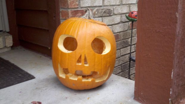 Laffing Skull Pumpkin - Day by WingDiamond