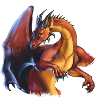 Another red dragon by ScarletDrache